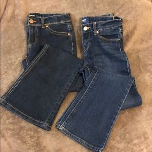Two pair boot cut jeans sz 10